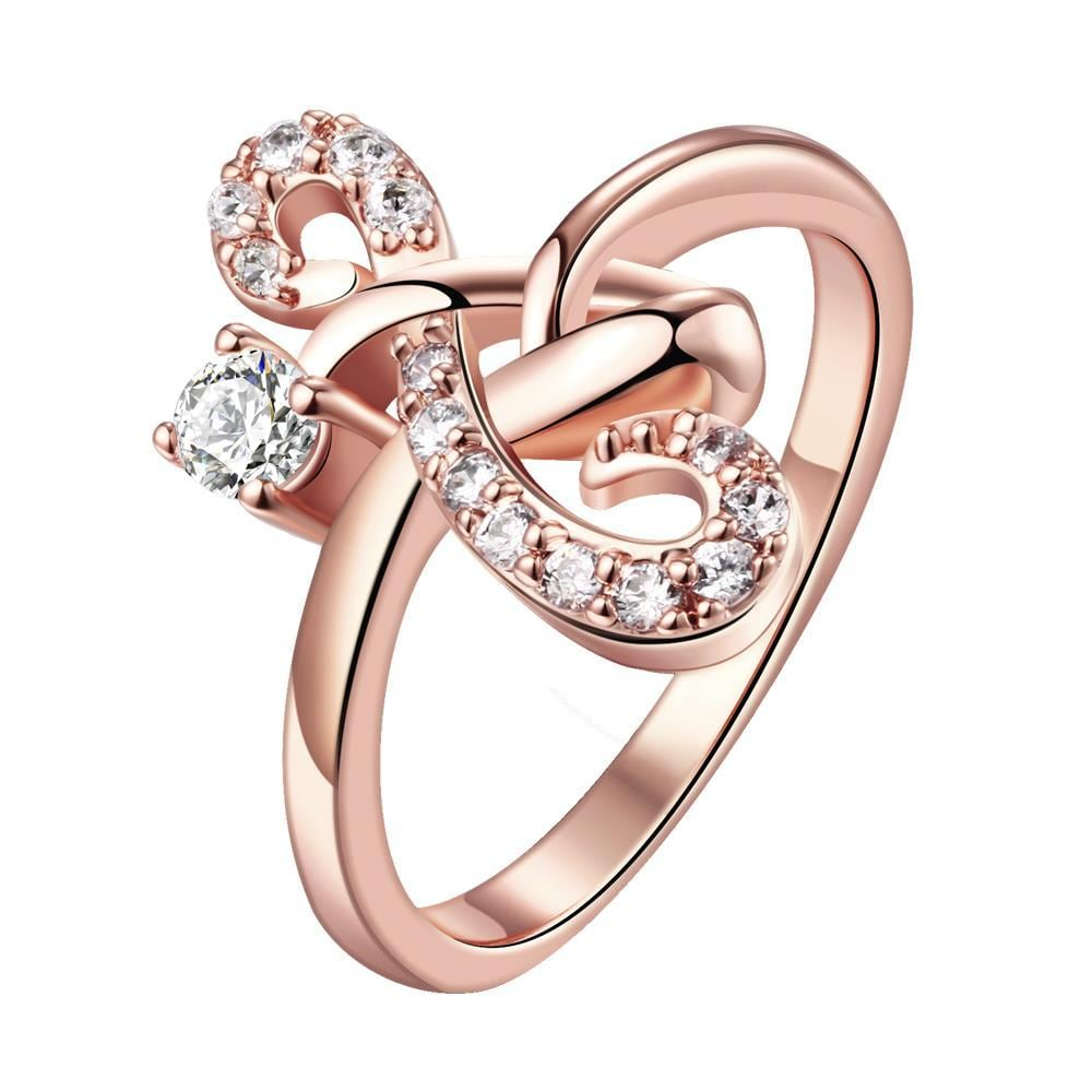 Vienna Jewelry Gold Plated Mirrored Hearts Promise Ring
