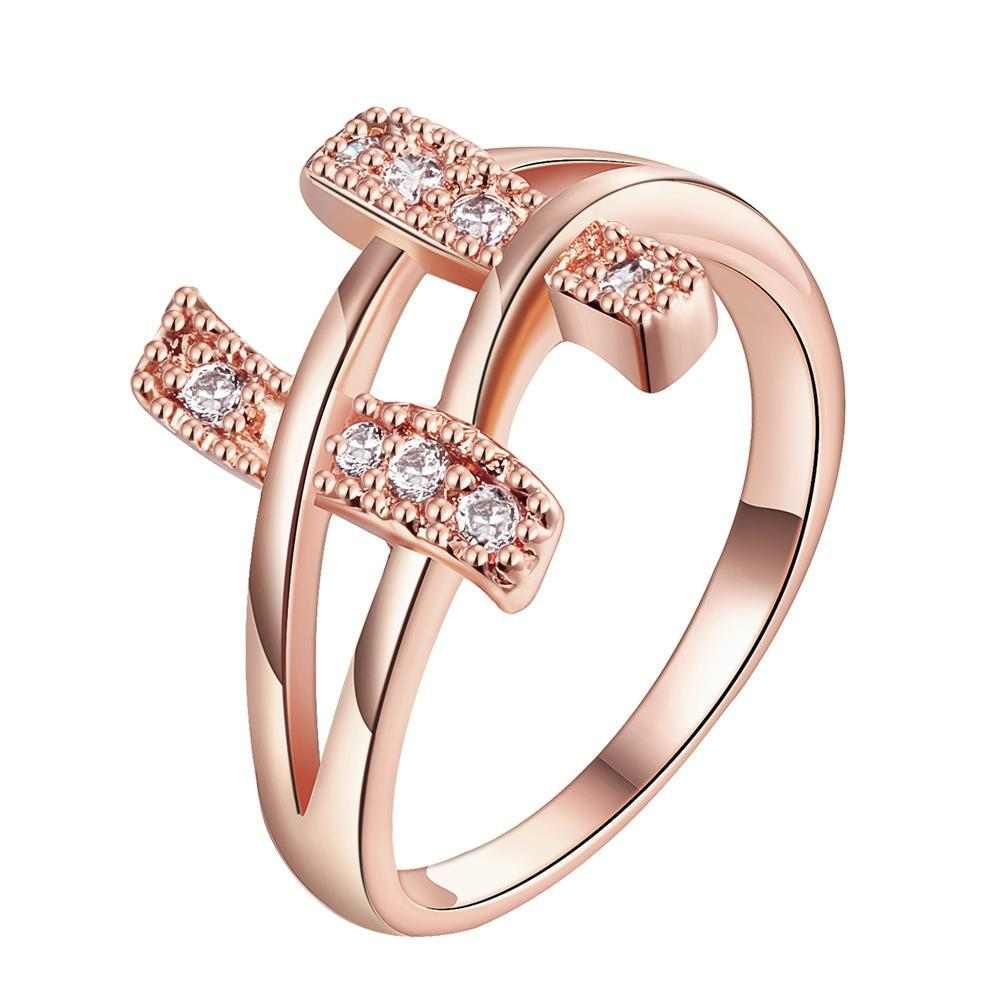 Vienna Jewelry Gold Plated Double Bars Jewels Ring