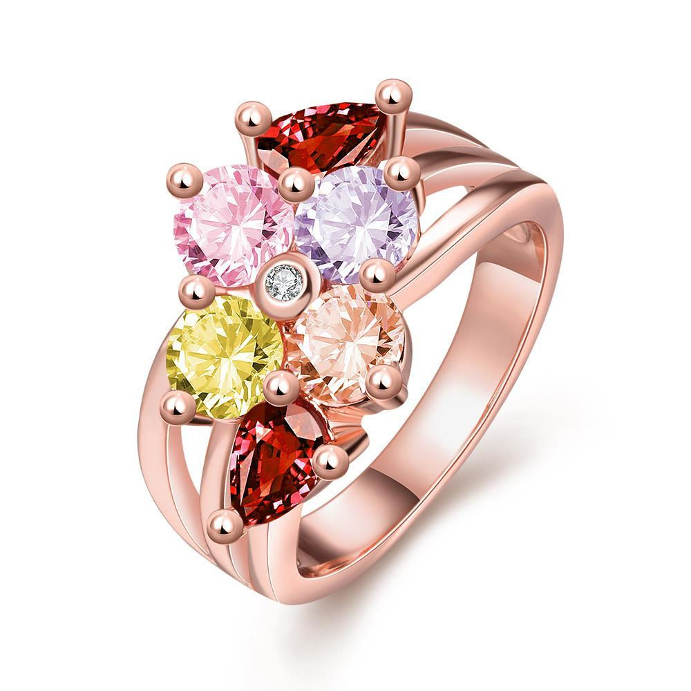Vienna Jewelry Gold Plated Candy Colored Ring