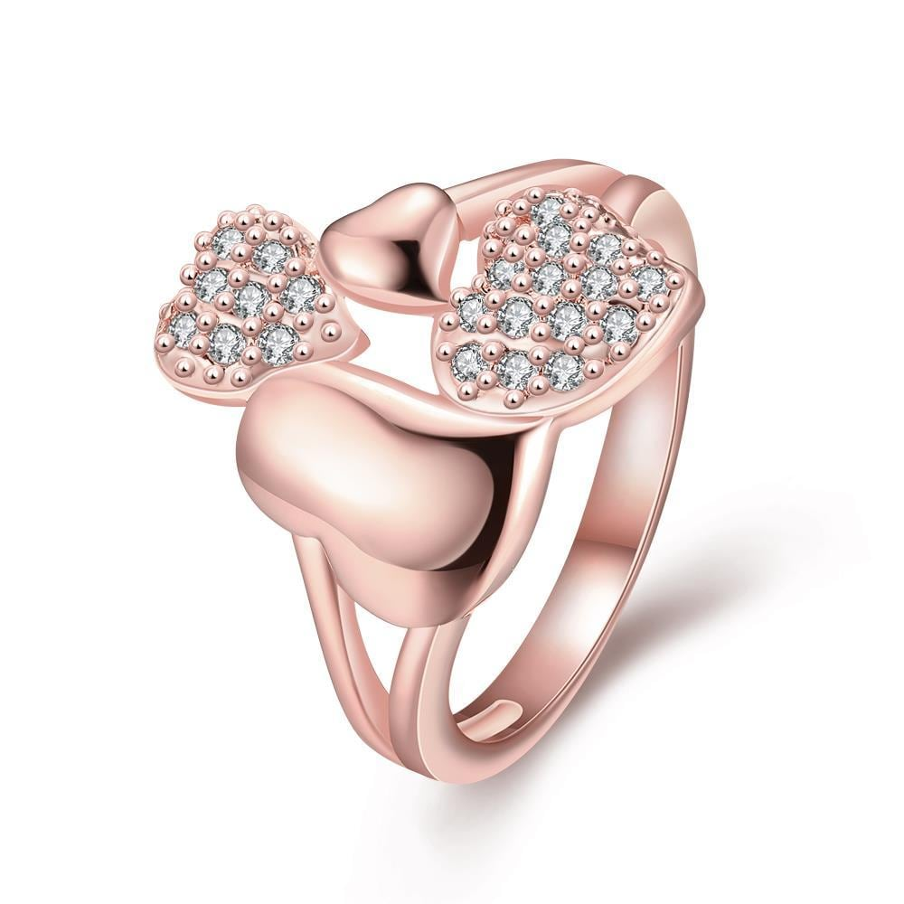 Vienna Jewelry Gold Plated An Influx of Love Ring