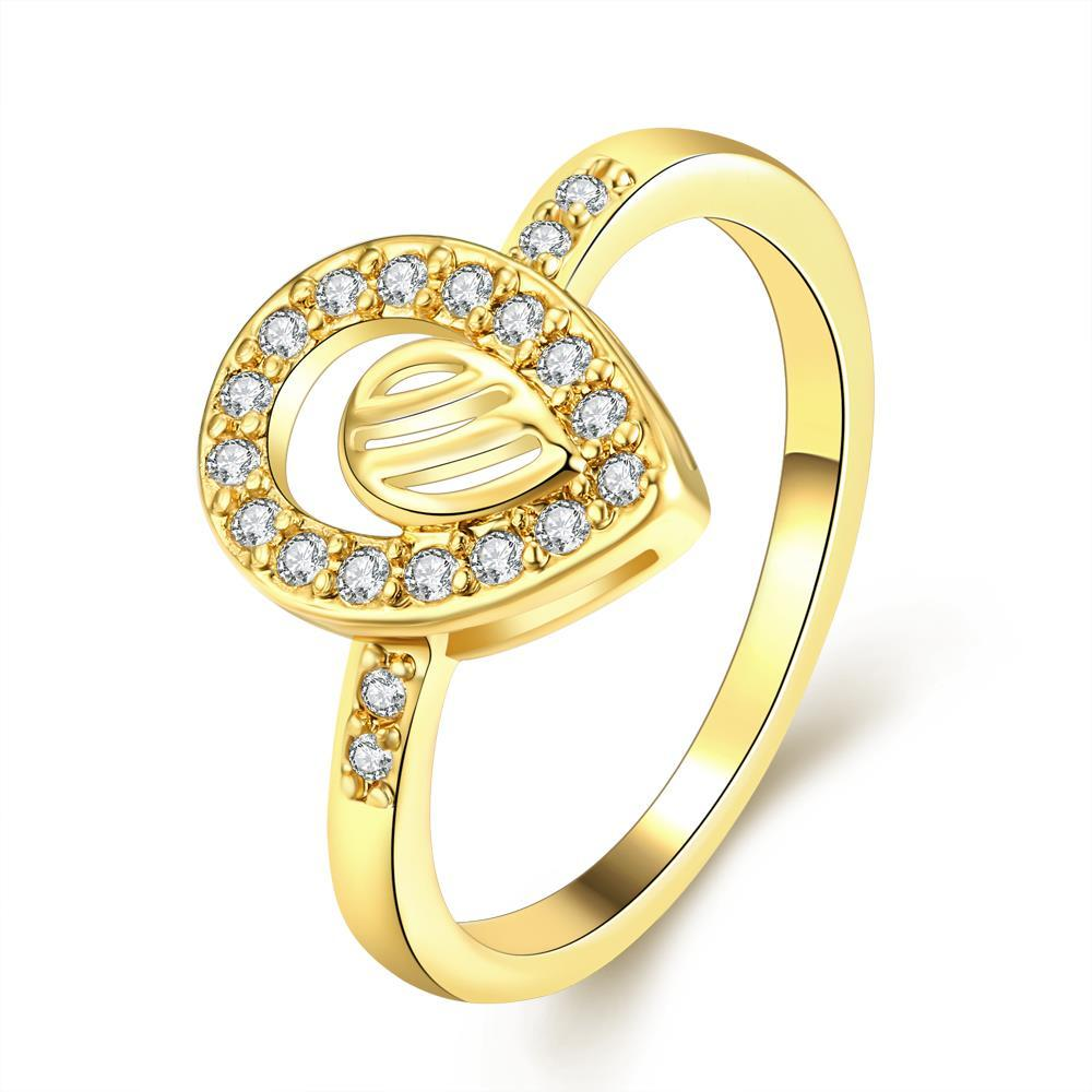 Vienna Jewelry Gold Plated Circular Jewels Infused Ring