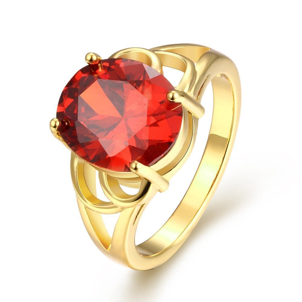 Vienna Jewelry Gold Plated London Inspired Gemstone Ring