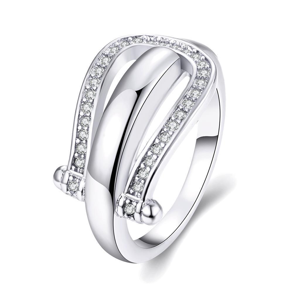 Vienna Jewelry Gold Plated Horseshoe Design Ring
