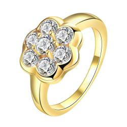 Vienna Jewelry Gold Plated Clover Cluster Jewels Ring - Thumbnail 0