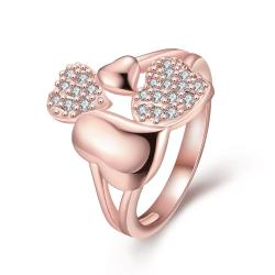 Vienna Jewelry Gold Plated An Influx of Love Ring - Thumbnail 0
