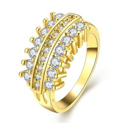 Vienna Jewelry Gold Plated Crystal Jewels Branch Ring - Thumbnail 0