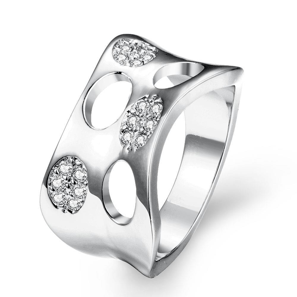 Vienna Jewelry Gold Plated Swiss Inspired Design Ring