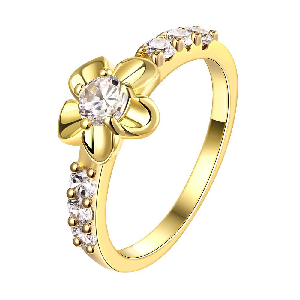 Vienna Jewelry Gold Plated Bow-Tie Emblem Ring