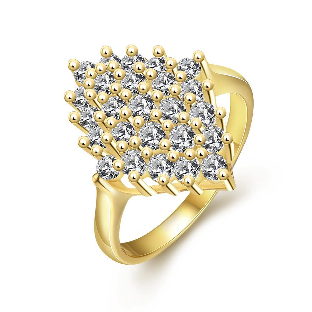 Vienna Jewelry Gold Plated Roses Full Of Jewels Ring