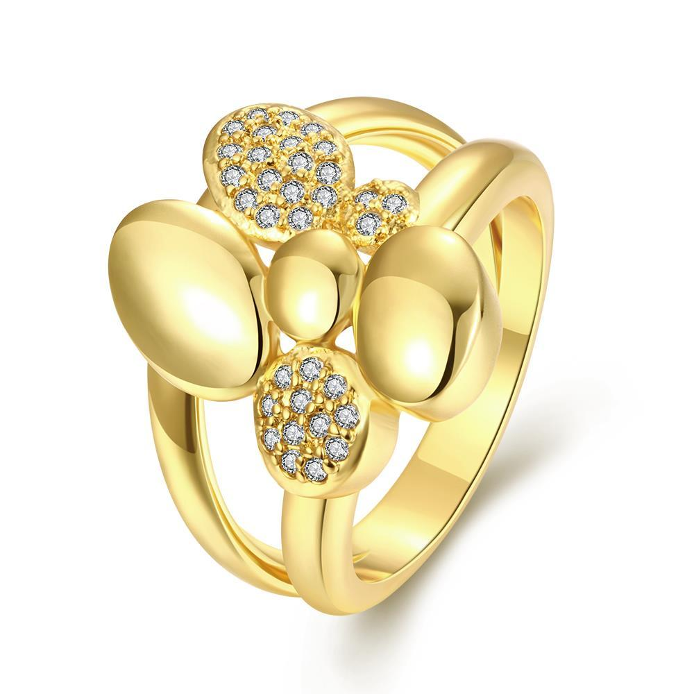 Vienna Jewelry Gold Plated Classical New York Ring