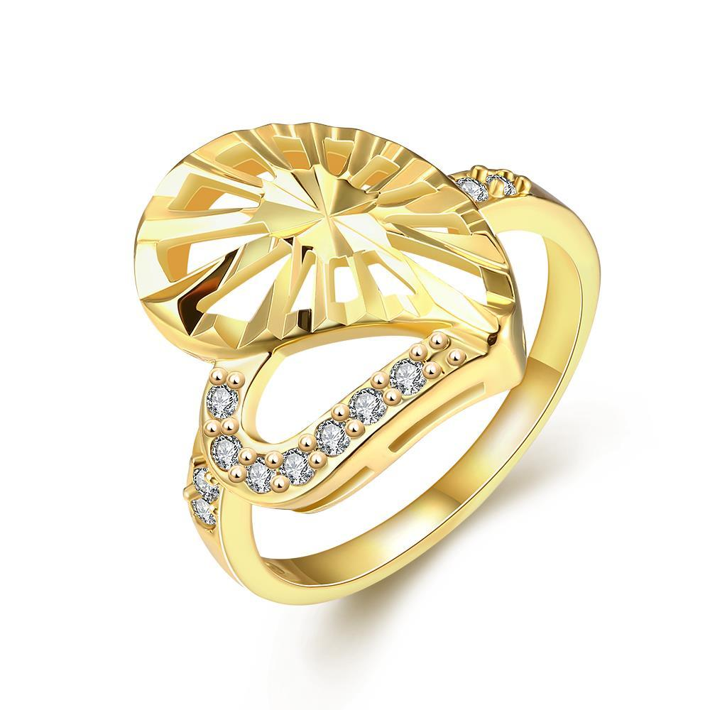 Vienna Jewelry Gold Plated Modern Twist to The Classic Ring