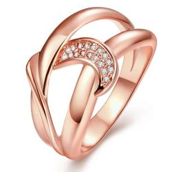 Vienna Jewelry Gold Plated Swirl Love Knot Ring - Thumbnail 0