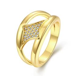 Vienna Jewelry Gold Plated Diamond Shaped Design Ring - Thumbnail 0