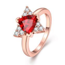 Vienna Jewelry Gold Plated Triangular Shaped Gemstone Ring - Thumbnail 0
