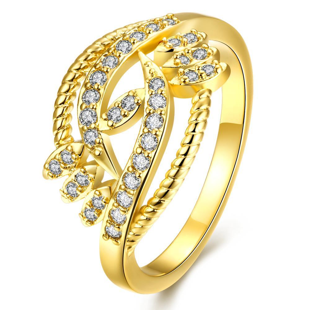 Vienna Jewelry Gold Plated Tree Nature Branch Designer Ring