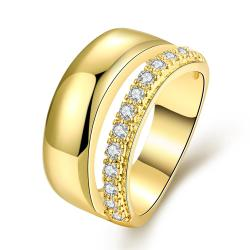 Vienna Jewelry Gold Plated Classical Wedding Ring with a Modern Twist - Thumbnail 0