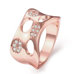 Vienna Jewelry Gold Plated Swiss Inspired Design Ring - Thumbnail 0