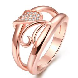 Vienna Jewelry Gold Plated Double-Stance Design Ring - Thumbnail 0