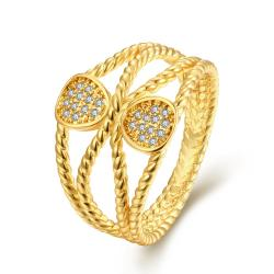 Vienna Jewelry Gold Plated Los Angeles Designer Inspired Twist Ring - Thumbnail 0
