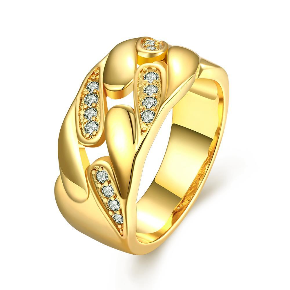 Vienna Jewelry Gold Plated Abstract Swirl Design Ring