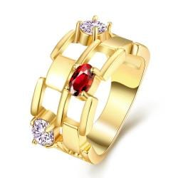 Vienna Jewelry Gold Plated Thick Citrine Gemstone Ring - Thumbnail 0
