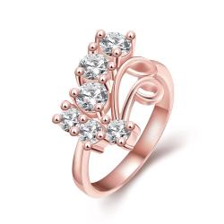 Vienna Jewelry Gold Plated A Cluster of Jewels Ring - Thumbnail 0