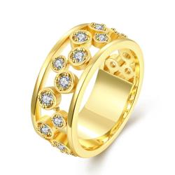 Vienna Jewelry Gold Plated Crystal Bling Modern Ring - Thumbnail 0