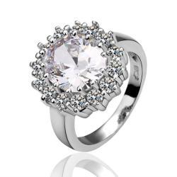 Vienna Jewelry Crystal Jewel Swarvoski Inspired Encrusted Ring Size 8 - Thumbnail 0