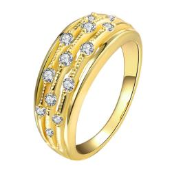 Vienna Jewelry Gold Plated Jewels Accent Modern Ring - Thumbnail 0