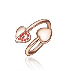 Vienna Jewelry Petite Rose Gold Plated Swirl Ring Size 8 - Thumbnail 0