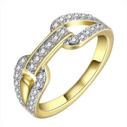 Vienna Jewelry Gold Plated Crystal Covering Band Ring Size 8 - Thumbnail 0