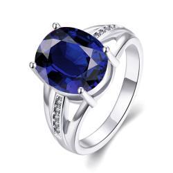 Vienna Jewelry Gold Plated Medium Cut Classical Gemstone Ring - Thumbnail 0