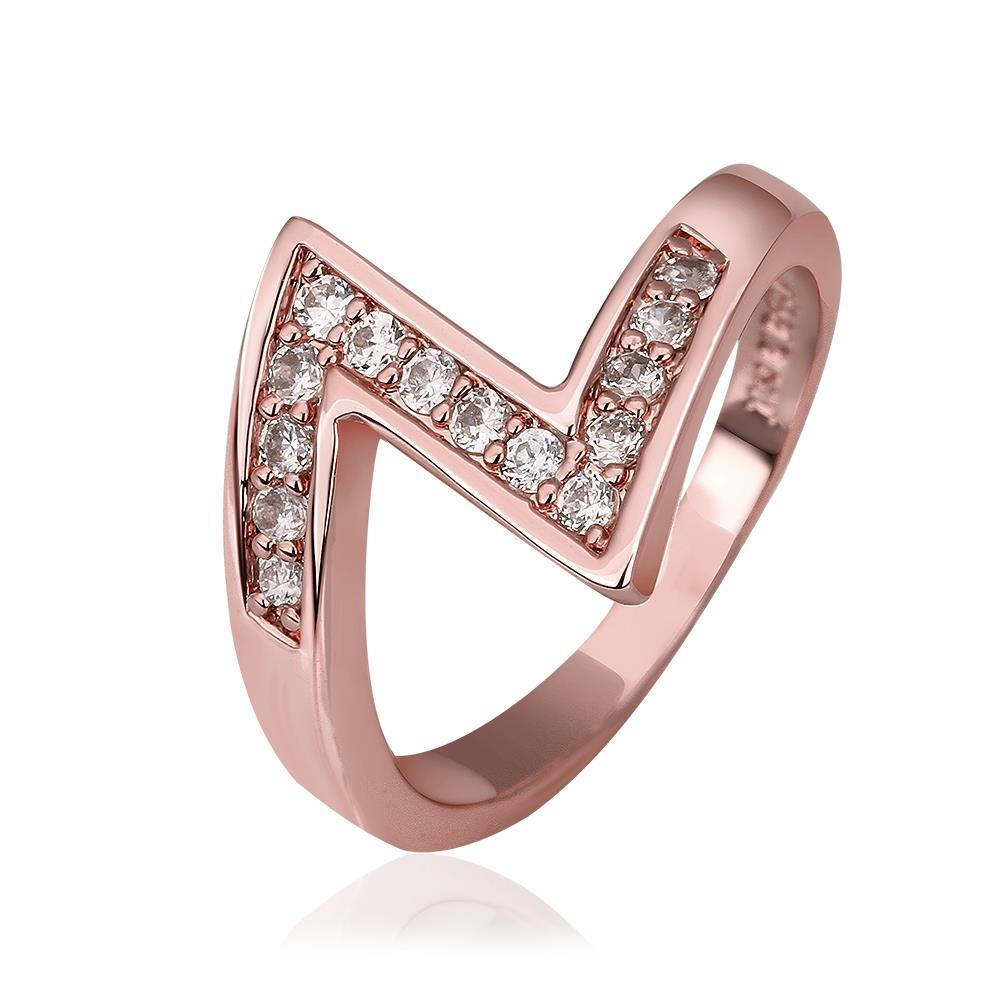 Vienna Jewelry Rose Gold Plated Modern Twist Ring Size 8