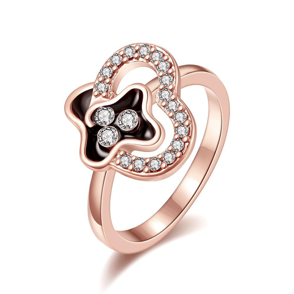 Vienna Jewelry Rose Gold Plated Swirl Design Jewels Covering Ring Size 7