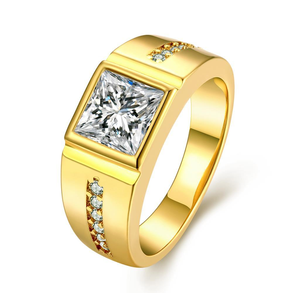 Vienna Jewelry Gold Plated Crystal Main Crystal Center Ring