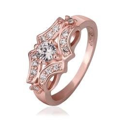 Vienna Jewelry Rose Gold Plated Blossoming Design Ring Size 8 - Thumbnail 0