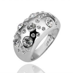 Vienna Jewelry White Gold Plated Diamond Jewels Ring Size 6 - Thumbnail 0