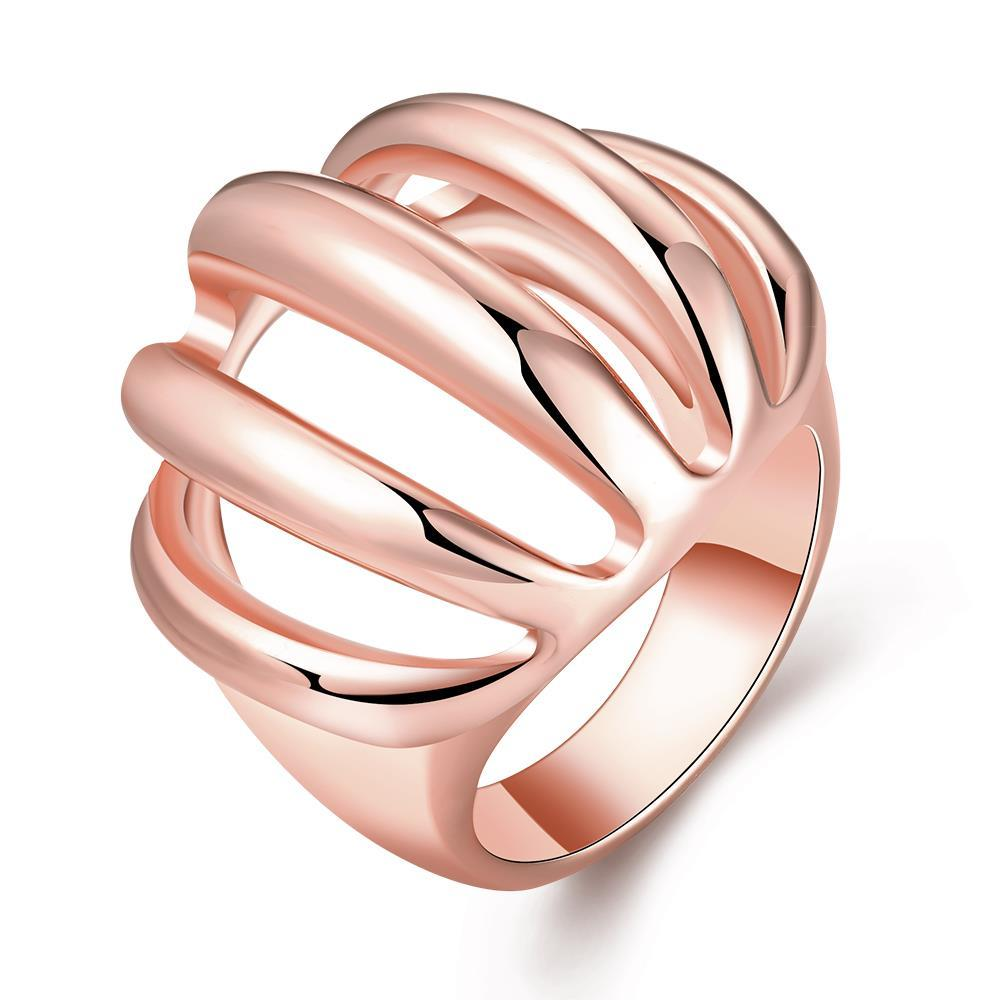 Vienna Jewelry Rose Gold Plated Sea-Shell Inspired Ring Size 8