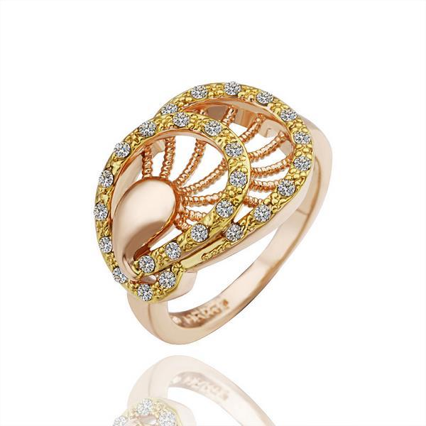 Vienna Jewelry Gold Plated Sea Shell Inspired Ring Size 8
