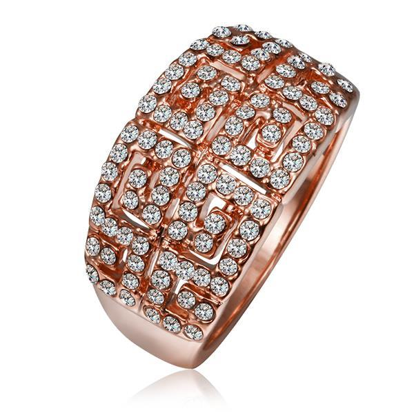 Vienna Jewelry Rose Gold Plated Multi-Jewels Covering Cocktail Ring Size 8