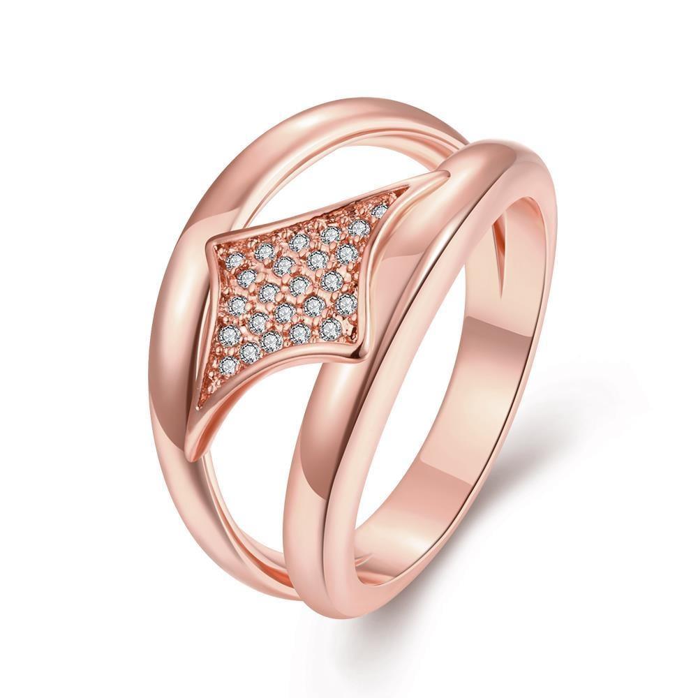 Vienna Jewelry Gold Plated Diamond Shaped Design Ring