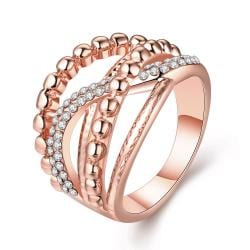 Vienna Jewelry Rose Gold Plated Two-Lined Wire Ring Size 8 - Thumbnail 0