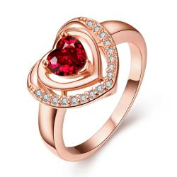 Vienna Jewelry Rose Gold Plated Ruby Opening Ring Size 8 - Thumbnail 0