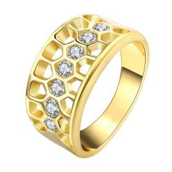 Vienna Jewelry Gold Plated Composite Crystal Jewels Ring - Thumbnail 0