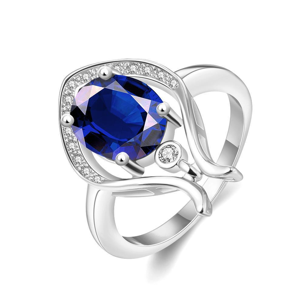 Vienna Jewelry Gold Plated Harp Design Natural Gemstone Ring