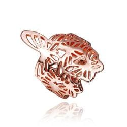 Vienna Jewelry Rose Gold Plated Hollow Swirl Design Ring Size 8 - Thumbnail 0