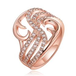 Vienna Jewelry Rose Gold Plated Hollow Abstract Desginer Inspired Ring Size 8 - Thumbnail 0