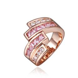 Vienna Jewelry Rose Gold Plated Coral Citrine Abstract Swirl Ring Size 8 - Thumbnail 0