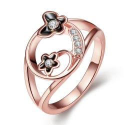 Vienna Jewelry Rose Gold Plated Petite Butterfly Circular Ring Size 7 - Thumbnail 0