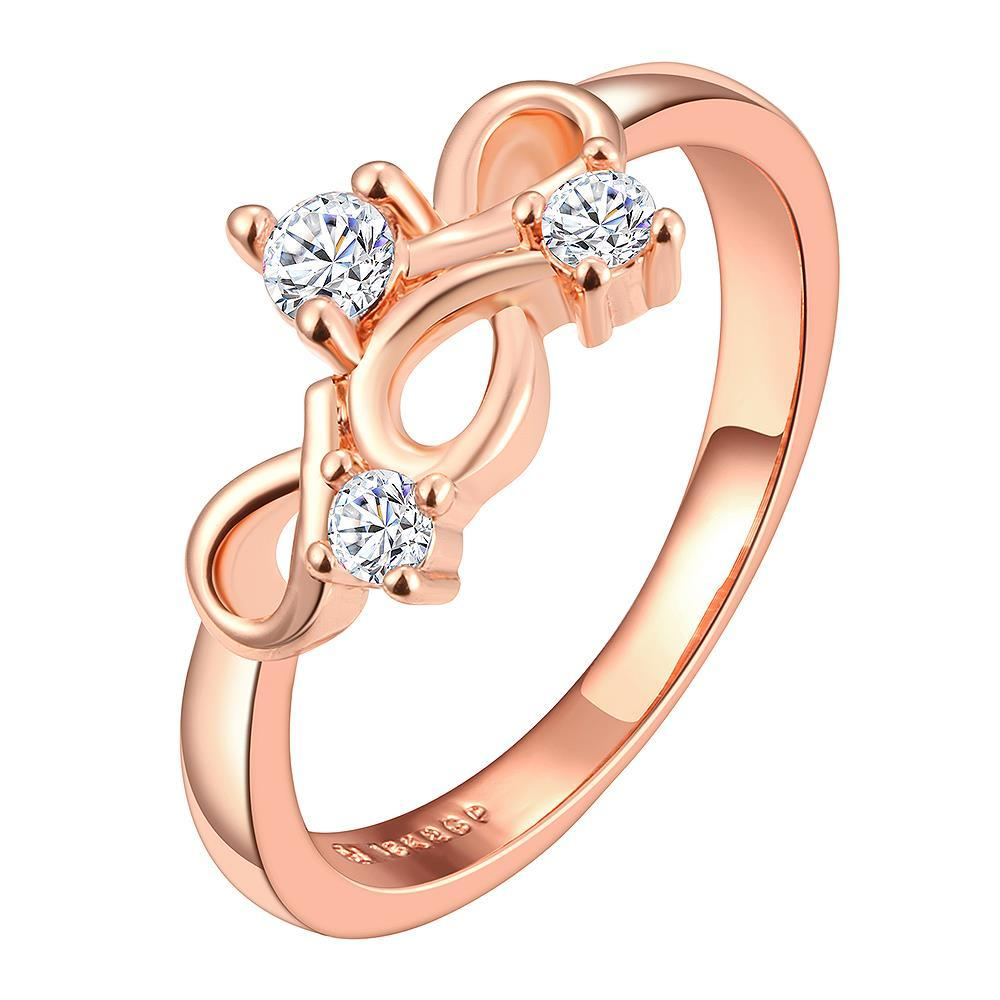 Vienna Jewelry Rose Gold Plated Multi Infinite Loop Jewel Covering Ring Size 6